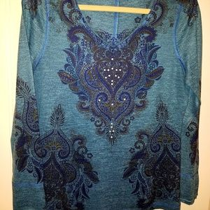 OneWorld women's blouse, M, embellished